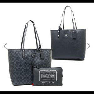 Coach Reversible Denim Tote